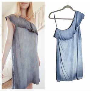 CLOTH & STONE One Shoulder Ruffle Dress XS